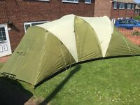 Coleman Velhas 8 Man Tent. Good Condition. 2000 Head. All Poles Guys Instructions Etc.