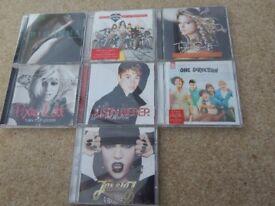7 CD'S (One Direction, Jessie J, Justin Bieber,Taylor Swift, Pussycat Dolls, Rihanna, Pixie Lott)