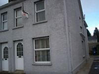 2-double bedroom house for rent in Sixmilecross close to shops and bus stop.