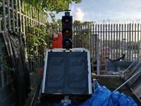 Pike 2 way solar traffic lights & Trailer