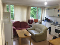 Big single room is available now in clean flat. no extra. by the local shops