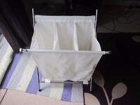 3-compartment laundry basket