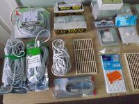 JOB LOT OF ELECTRICAL DIY ITEMS