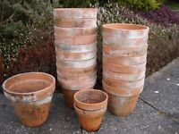 Terracotta Pots/Garden Planters set of 21. made in Italy 27cm x1,23cm x18,17cm x2