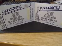 2 x JAKE BUGG TICKETS BRIXTON ACADEMY LONDON NOVEMBER 1st STANDING SOLD OUT