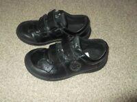 Clarkes black light up school shoes 10F