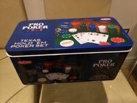 Tactic Games UK Pro Poker Texas Hold'em Set - Tin