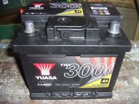 YUASA YBX 3000 CAR BATTERY Used Collect Northampton