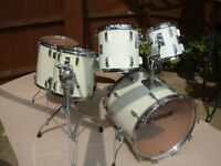 Sonor Sonorphonic Plus drum shell pack - Link product, '80s - White wrap - Heavy beech shells