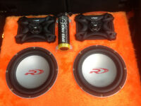 Car Bass box Subwoofer BASS FACE x4 Type R12, x2 Amplifiers