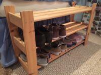 Three Tier Wooden Shoe Rack