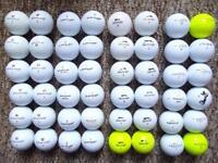48 Wilson DX2soft, Pinnacle, Slazenger, Dunlop golf balls immaculate condition gold, tour soft, dist
