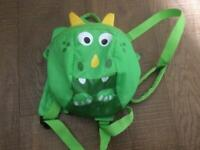 Dinosaur rucksack with parent strap