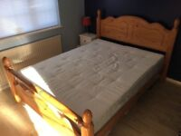 Good quality king size pine bed in very good condition condition.