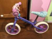 Balance bike for a little girl, 1st bike