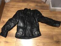 Sportex genuine ladies black leather motorbike jacket
