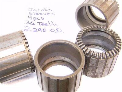 4 Pcs Jacobs Drill Chuck Sleeves 36 Teeth 2.290 O.d. Repair Parts