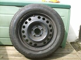 Car spare wheel & unused tyre