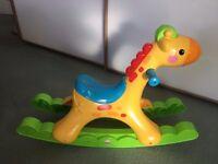 Rocking Giraffe baby musical rocker