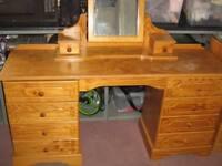 SOLID PINE BESPOKE BEDROOM FURNITURE - DRESSING TABLE