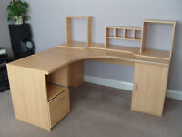 Corner Office Desk Unit (Large and Solid)