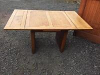 Vintage extendable solid heavy wooden table