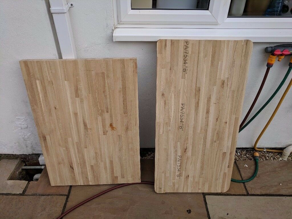 Solid oak worktop offcuts