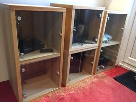 Glass Door Display Cabinets Great For Showcasing Collections Such As Vinyl Etc