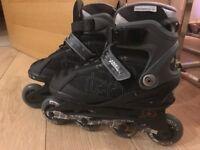 Size 6 hardly worn No Fear roller blades/skates