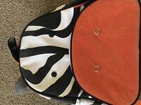Zebra skiphop rucksack.