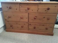 Solid Pine large chest of drawers