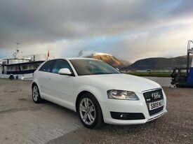 Audi A3 1.9 TDiE diesel white 3 door