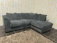 Ex Display Grey Chord Corner Sofa