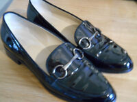 Hobbs Clarence Black High Shine Loafer - Size 40