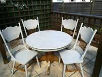 """""""Offers excepted"""" must go! Table and chairs"""