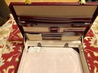 Quality leather attaché case - new