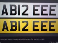 PRIVATE (CHERISHED) NUMBER PLATE - A12 EEE - ABBIE, ABI, ABIE, ABBEY, ABIEEEE