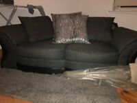 2 and 3 seater fabric sofa
