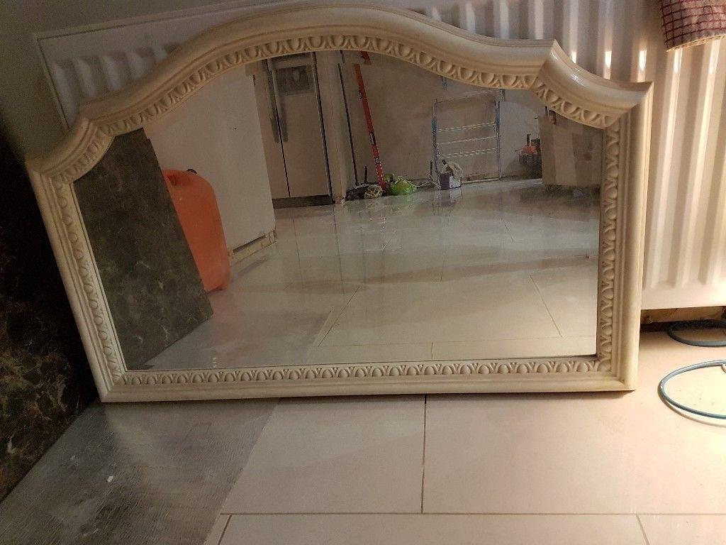 Cream Marble Mirror