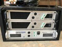 Professional dj set x3 Ecler amplifiers etc