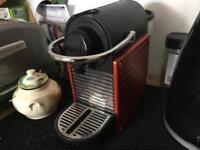 Nespresso Pixie Krups Coffee Machine Brick Red