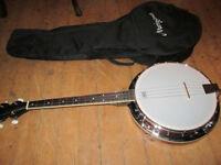 Martin Smith 4 String Tenor Banjo With 5mm Padded Gig Bag