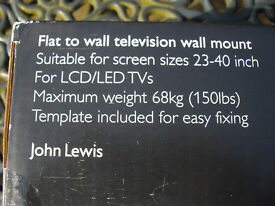 Brand new John Lewis TV wall mount