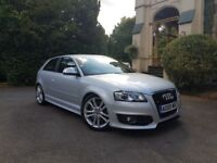AUDI S3 2009/09 S-TRONIC PADDLE SHIFT FACELIFT DRL'S 360 BHP STAGE 3 MILTEK FLAT BOTTOM !!!£9650