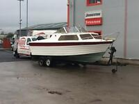 BOAT AND TRAILER REDUCED cruiser speedboat fishing