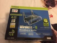 UNUSED Linksys WRT54G Wireless Broadband Router 4 Port Switch WI-FI SUGNAL BOOSTER FREE DELIVERY