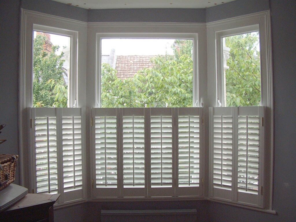 Plantation Shutters Half Height White To Fit One Bay And