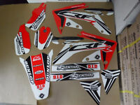 New Honda CRF 250 R 04-09 FLU PTS3 Graphics Sticker Decals Kit Motocross