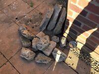 assorted rockery stones