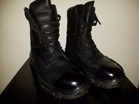 Size 9 ,Steel toe cap genuine leather Goliath boots , polished and bulled , barely worn few times.